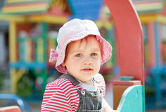 Portrait of two-year child at playground Royalty Free Stock Photos
