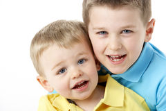 Portrait Of Two Young Boys Royalty Free Stock Images