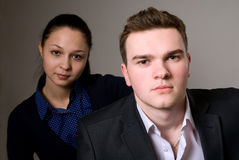 Portrait of two young business partners Stock Image
