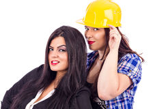 Portrait of two young businesswomen Royalty Free Stock Photography