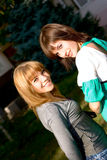Portrait two young girls Royalty Free Stock Images