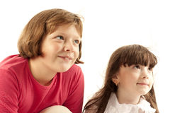 Portrait Of Two Young Girls royalty free stock image