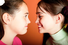 Portrait of two young girls Royalty Free Stock Images
