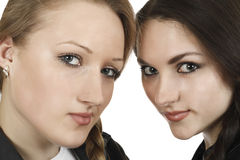 Portrait of two young girls Royalty Free Stock Photography