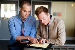 Portrait of two young handsome businessmen Royalty Free Stock Photo