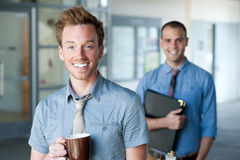 Portrait of two young handsome businessmen Royalty Free Stock Images