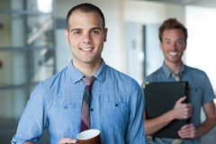 Portrait of two young handsome businessmen Royalty Free Stock Photography