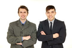 Portrait of two young men Stock Image