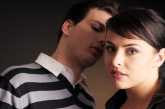 Portrait of the two young people in love Stock Photography
