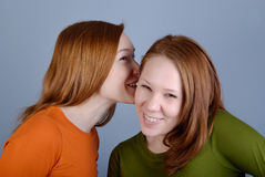 Portrait of two young woman Royalty Free Stock Photos