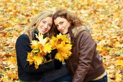 portrait of two young women royalty free stock photo