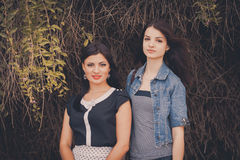 Portrait of two young women Royalty Free Stock Image