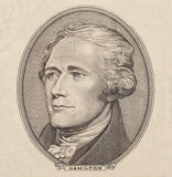 Portrait of  U.S. president Alexander Hamilton Royalty Free Stock Images