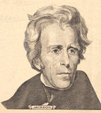 Portrait of  U.S. president Andrew Jackson Royalty Free Stock Photography