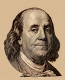 Portrait of U.S. president Benjamin Franklin Stock Image