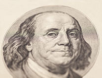 Portrait of U.S. president Benjamin Franklin Royalty Free Stock Photos