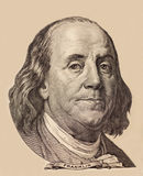 Portrait of U.S. president Benjamin Franklin Stock Photos