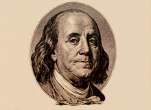 Portrait of U.S. president Benjamin Franklin Royalty Free Stock Photography