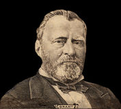 Portrait of  U.S. president Ulysses S. Grant Stock Photos