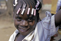 Portrait of Ugandan girl with radiant face Stock Image