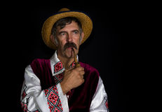 Portrait of Ukrainian country-man Royalty Free Stock Photography