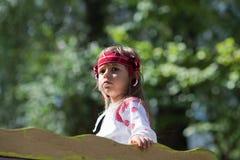 Portrait of Ukrainian little girl Stock Photos