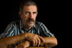 Portrait of Ukrainian peasant Stock Images