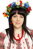 Portrait of a Ukrainian woman Stock Image