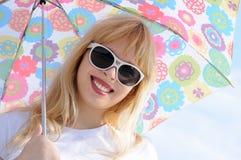 Portrait with umbrella Stock Images
