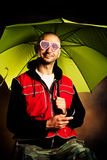 Portrait with umbrella Royalty Free Stock Photos