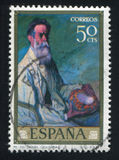 Portrait of Uncle Daniel. SPAIN - CIRCA 1977: stamp printed by Spain, shows portrait of Uncle Daniel, circa 1977 stock photography
