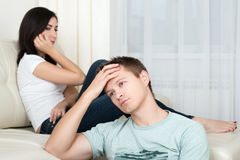 Portrait of unhappy couple having problems Royalty Free Stock Photo