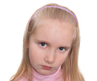 Portrait of unhappy girl Royalty Free Stock Photo