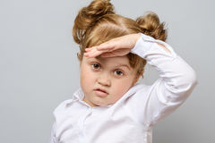 Portrait of unhappy little girl Royalty Free Stock Photography