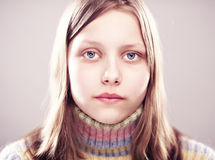 Portrait of a unhappy teen girl Royalty Free Stock Photography