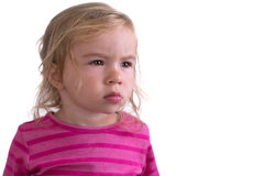 Portrait of a Unhappy Toddler Royalty Free Stock Image