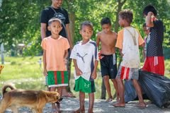 Portrait of unidentified Aeta tribe people on Aug 27, 2017 in Sa Royalty Free Stock Photo