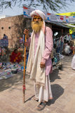 Portrait of an unidentified indian senior man in Nandgaon Royalty Free Stock Image