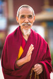 Portrait of unidentified monk circle Boudhanath Royalty Free Stock Photography