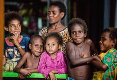 Portrait of unidentified  Papuan kids. Royalty Free Stock Images