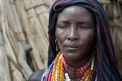 Portrait of unidentified woman from Arbore tribe, Ethiopia Stock Images