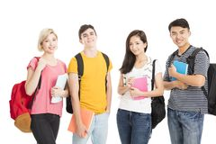 University Students isolated on white Royalty Free Stock Photography