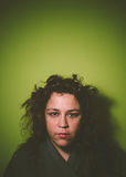 Portrait of a unkempt woman Royalty Free Stock Photography