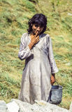 Portrait of unknown farmer woman Stock Images
