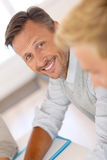 Portrait of unshaven man looking at camera Royalty Free Stock Image