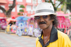 Portrait of an unusually flamboyant Malay man Royalty Free Stock Images