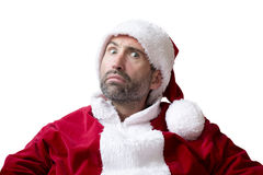 Portrait of an upset Santa Claus Royalty Free Stock Images