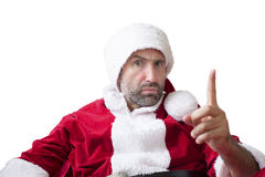 Portrait of an upset Santa Claus Royalty Free Stock Photos