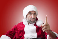 Portrait of an upset Santa Claus Stock Image