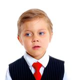 Portrait of upset schoolboy Stock Photography
